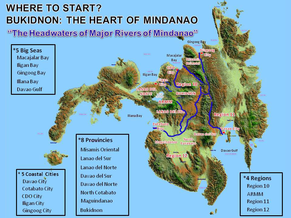 Major rivers of Mindanao