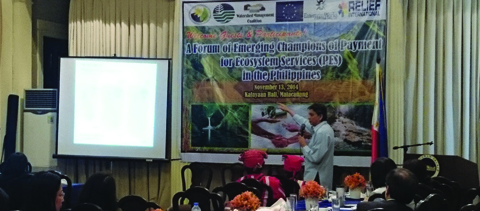 Hineleban Presents at the 'Payments for Environmental Services' Forum at Malacanang